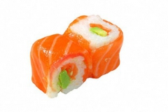 201, 6 saumon-rolls avocat