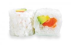 601, 6 neige rolls saumon-avocat