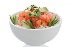 E5, salade tartare de saumon