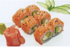 A11, 6 saumon-rolls cheese-avocat