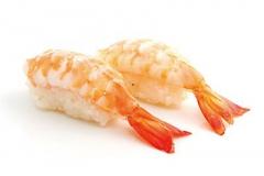 804, 2 sushi de crevettes
