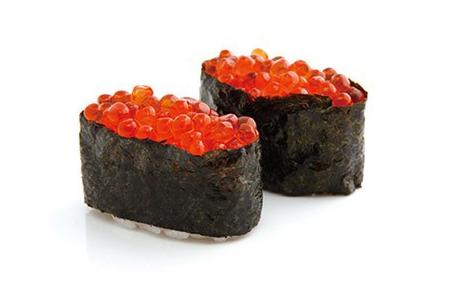 808, 2 sushi d'oeufs de saumon